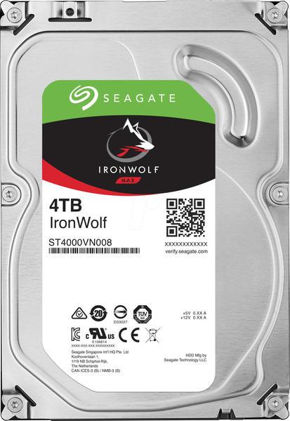 Seagate Iron Wolf NAS ST4000VN008 4 TB