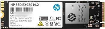 HP SSD EX920 FESTPLATTE INTERN 256GB 2YY45AA#ABB M.2 L:3200MB/s S:1200MB/s (2YY45AA#ABB)