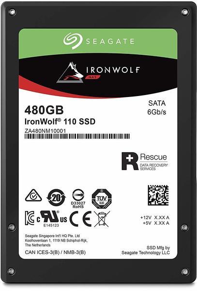 Seagate IronWolf® 110 Interne SSD 6.35cm (2.5 Zoll) 480GB Retail ZA480NM10001 SATA III