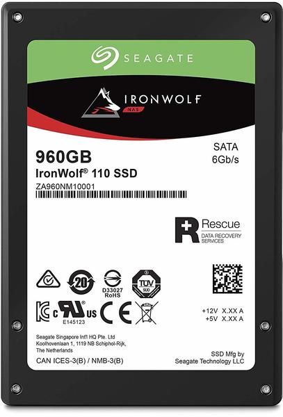 Seagate IronWolf® 110 Interne SSD 6.35cm (2.5 Zoll) 960GB Retail ZA960NM10001 SATA III