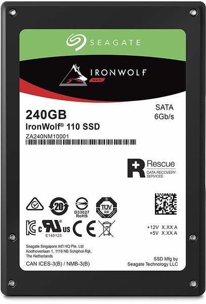 Seagate IronWolf® 110 Interne SSD 6.35cm (2.5 Zoll) 240GB Retail ZA240NM10001 SATA III