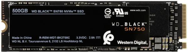 Western Digital Black SN750 NVMe 500GB (WDBRPG5000ANC)