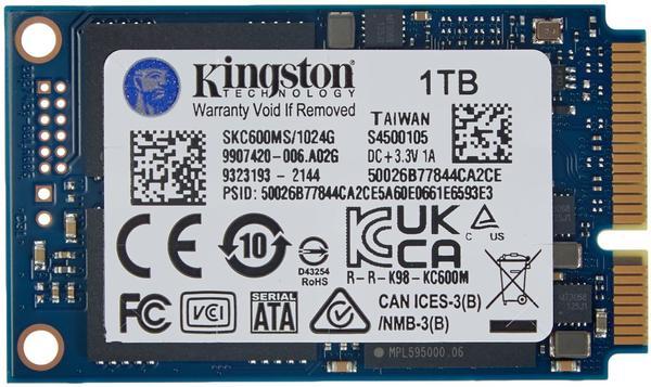 Kingston KC600 1TB mSATA
