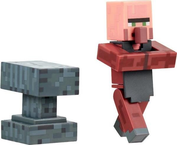 Jazwares Minecraft Overworld Villager Blacksmith with Anvil