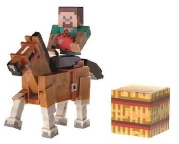 Jazwares Minecraft - Steve mit braunem Pferd Serie 2 (16594)