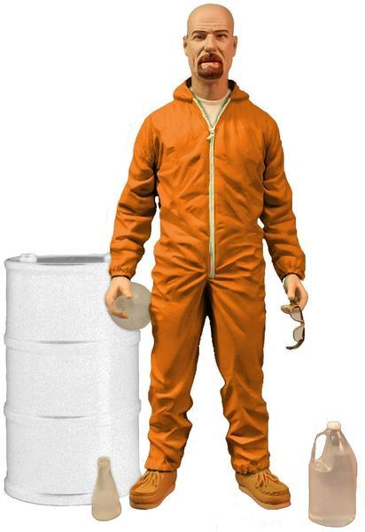 Mezco Toys Breaking Bad Walter White Orange Hazmat Suit Fig