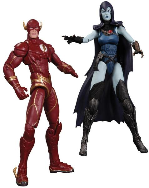 DC Collectibles Injustice - The Flash vs. Raven 10 cm 2-Pack