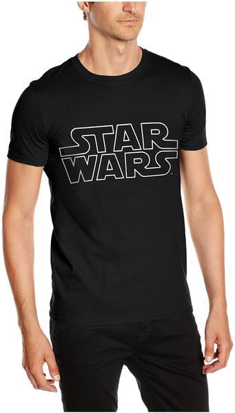 Rock Off T-Shirt Star Wars: Logo [schwarz, XXL]