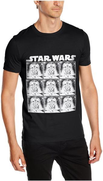 Rock Off T-Shirt Star Wars: Vader Repeat [schwarz, M]