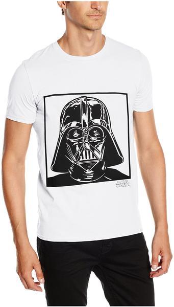 Rock Off T-Shirt Star Wars: Vader [weiß, S]
