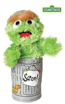 Living Puppets Sesamstrasse Oskar in der Tonne