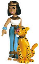 Plastoy Kleopatra mit Leopard