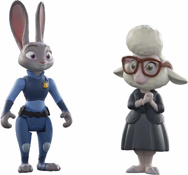 TOMY Zoomania Kleine Spielfiguren 2er Set - Judy Hopps & May Bellwether