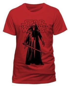 Soulfood Kylo Ren Standing (T-Shirt,rot,größe L) Fan-Artikel