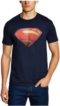 Superman Man Of Steel-Logo Size M-Blue T-Shirt Man Of Steel