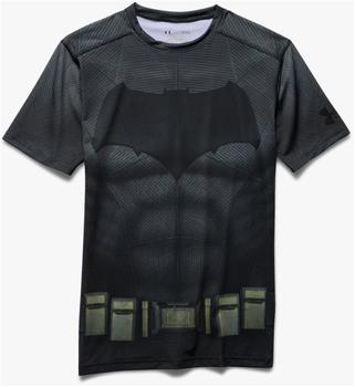 Under Armour Batman Suit Ss | graphite| black, Größe:XS