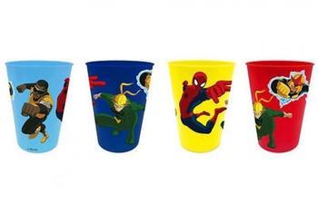 ELI Spiderman Trinkbecher 4er Set [Kunststoff]