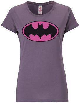 logoshirt-t-shirt-batman-lila-groesse-xs