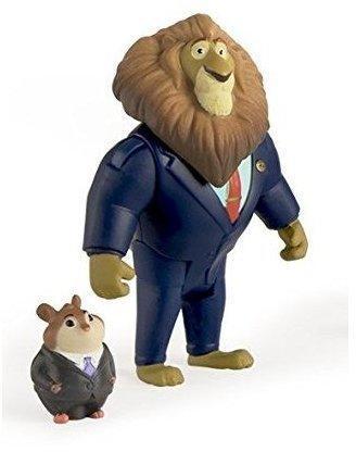 TOMY Zoomania Spielfigur Set Mayor Lionhart und Lemm
