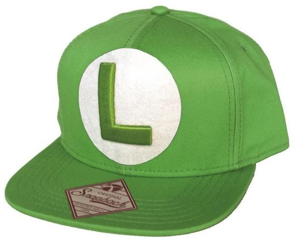 Bioworld Nintendo Snap Back Cap with L in front, grün