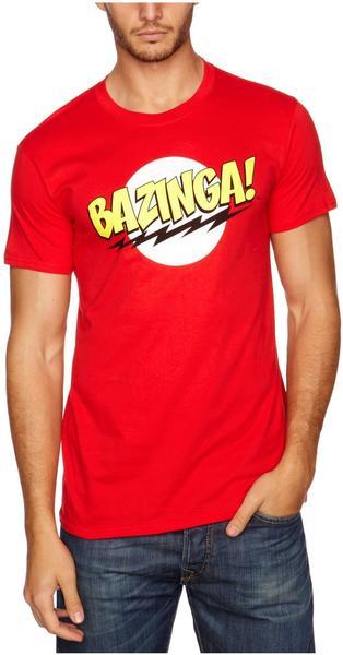 Trademark Products Ltd Big Bang Theory - Bazinga! T-Shirt - Rot - Größe XL