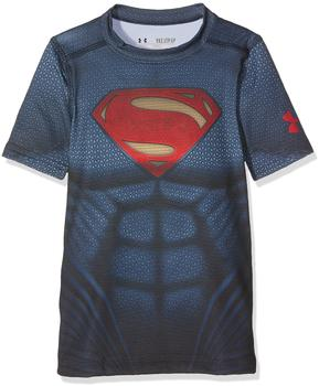 Under Armour Superman Trainingsshirt Suit midnight navy Kinder Gr. 140