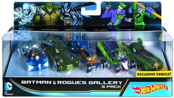 Mattel Batman vs. Superman - Hot Wheels DC Batman und die Schurken Character Car er-Pack (DJP11)