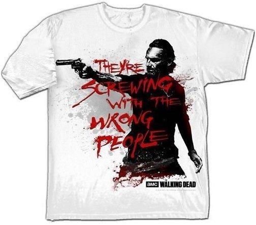Trademark Products Ltd The Walking Dead - Wrong People - Herren T-Shirt - Weiß - Größe XL