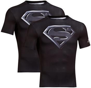 Under Armour Superman Compression Shirt Alter Ego schwarz XL
