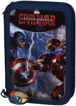 Marvel Universum Captain America: Civil War Federmappe Captain America vs. Iron Man inkl. Inhalt 34-tlg.