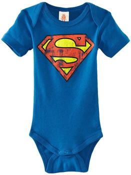LOGOSHIRT Baby-Body Superman blau, Größe 50