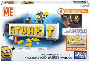 Mattel Mega Bloks DRV32 Ich einfach unverbesserlich Minions-Name Bauset,