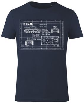 GoZoo GmbH Shirt - World of Tanks: Blueprint KV-1S - Blau - Gr. 2XL