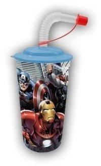 ELI Avengers Trinkbecher mit Strohhalm [Kunststoff]
