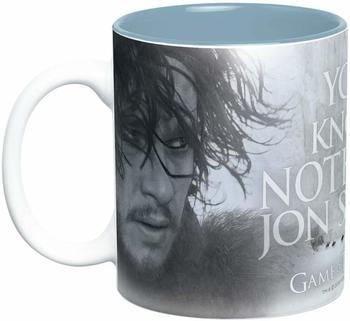 BIGBEN SOFTWARE Game of Thrones - Tasse You know nothing Jon Snow Keramik-Becher Standard D.Händler