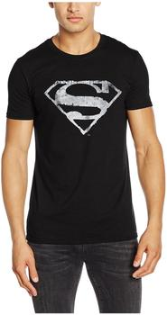 Superman Logo Mono Distressed (T-Shirt,Schwarz,GR XL)