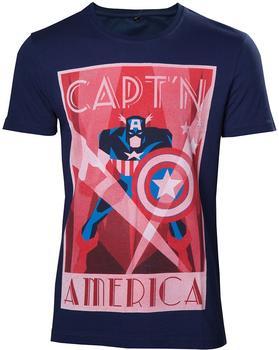 Flashpoint Marvel T-Shirt -XXL- Captain America, blau