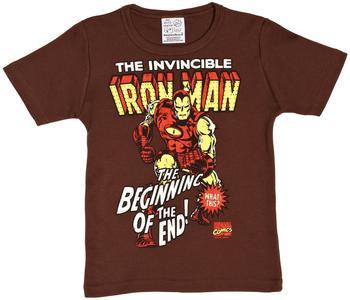 Logoshirt T-Shirt Iron Man Logo - Marvel braun 80/86