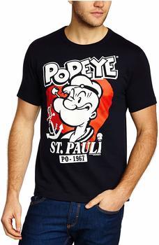 LOGOSHIRT T-Shirt Popeye der Seemann - St Pauli blau, S