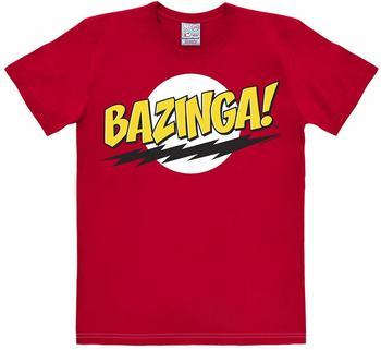 Logoshirt T-Shirt Bazinga - The Big Bang Theory rot Größe XS