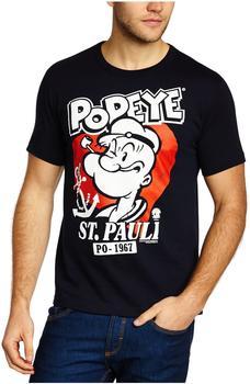 LOGOSHIRT T-Shirt Popeye der Seemann - St Pauli blau, M