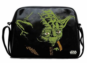 Logoshirt Star Wars Yoda Shoulder Bag black/green