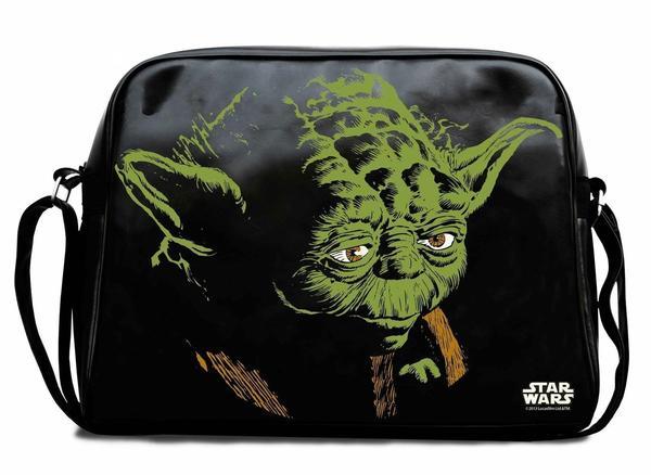 Logoshirt Star Wars Yoda Shoulder Bag black/green