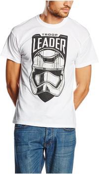 Star Wars Vii-The Force Awakens - Troop Leader (T-Shirt,weiss,größe S)