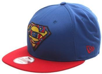New Era Floral Infill Superman Snapback Cap - BlueRed S/M