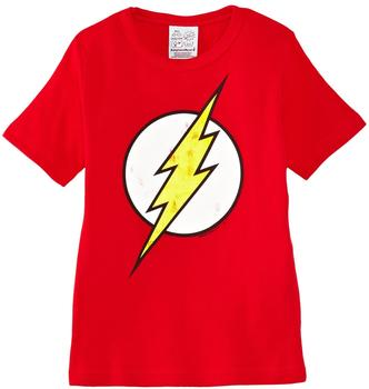 "LOGOSHIRT T-Shirt Der Rote Blitz"" - rot Größe 140/152"