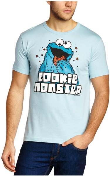 LOGOSHIRT T-Shirt Krümelmonster - Sesamstrasse hellblau Größe M