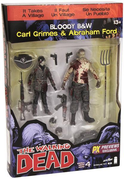 McFarlane Toys The Walking Dead Comic - Carl & Abraham Blody B&W
