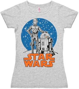 """LOGOSHIRT T-Shirt R2-D2 & C-3PO"""" Krieg der Sterne weiß, Größe S"""