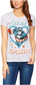 LOGOSHIRT Captain America - Marvel anthrazit, Größe XS